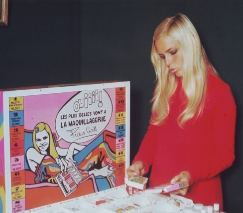France Gall with her make-up line