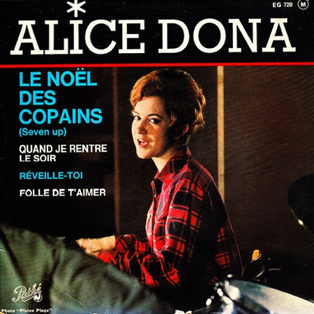 Alice Dona - Noël des copains EP sleeve